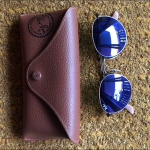 Rayban Round Purple mirrored sunglasses RB 3447